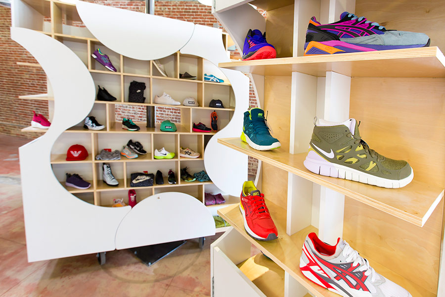 Retail Sneaker Shop Architecture and Interiors