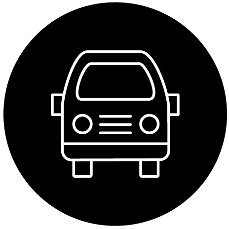 Minimal Volkwagon Van Icon Graphic Design