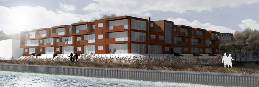 Modern Residential Development Concept for Roslyn NY Waterfront