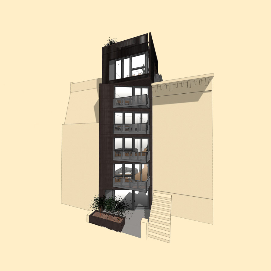Architecture Diagram for Modular NYC Residential Condo Building