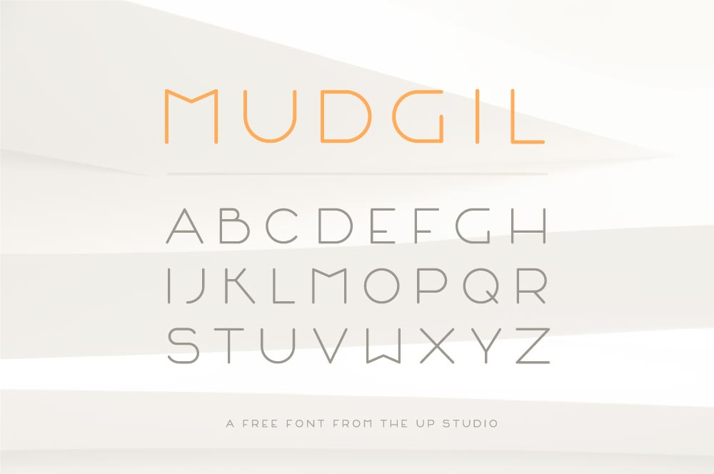 MUDGIL a free font by the up studio architecture and design