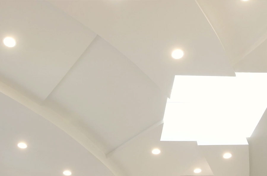 Custom Extruded Curver Ceiling Architectural Detail