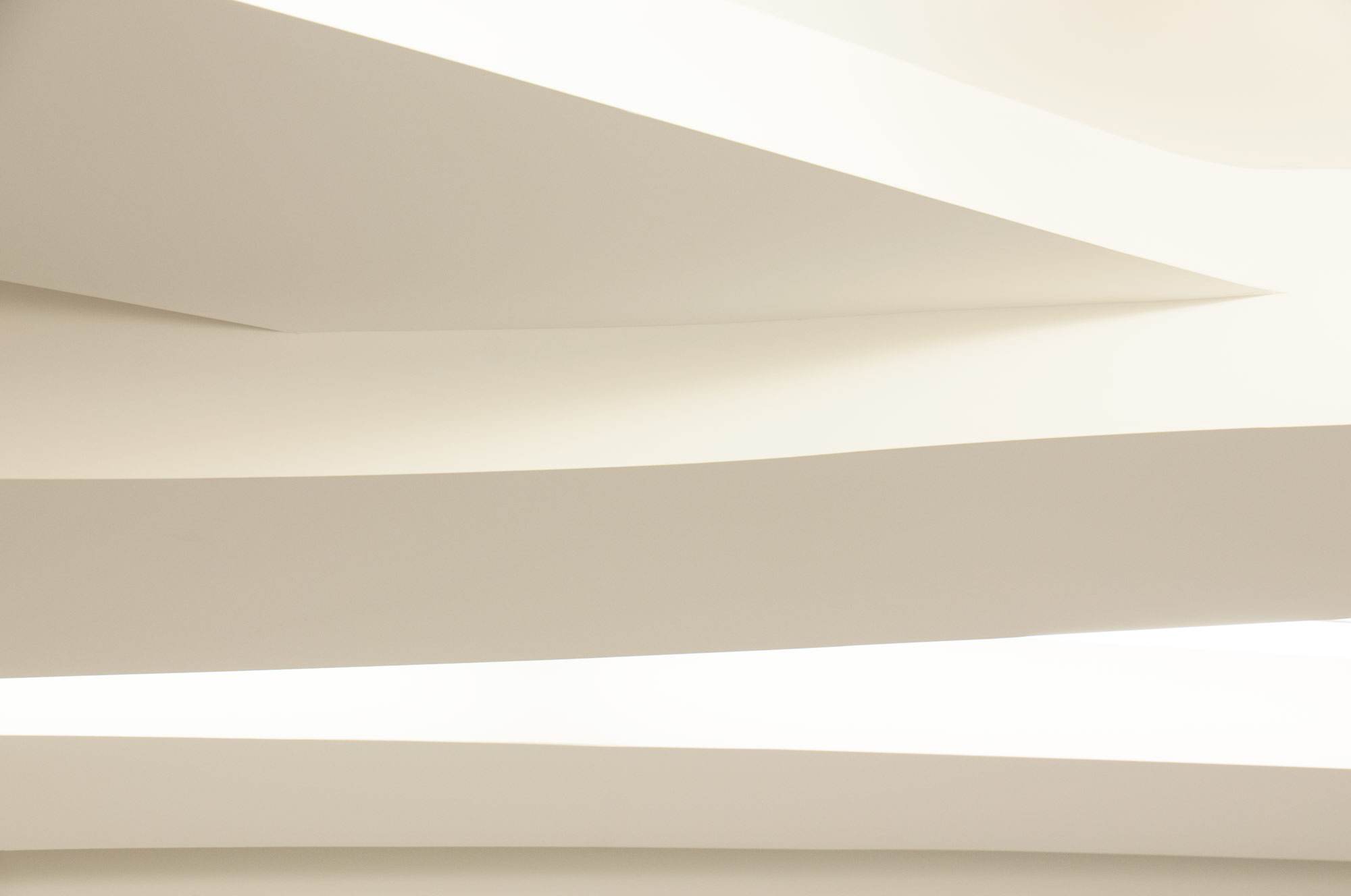 Curving Ceiling Plane Architectural Detail