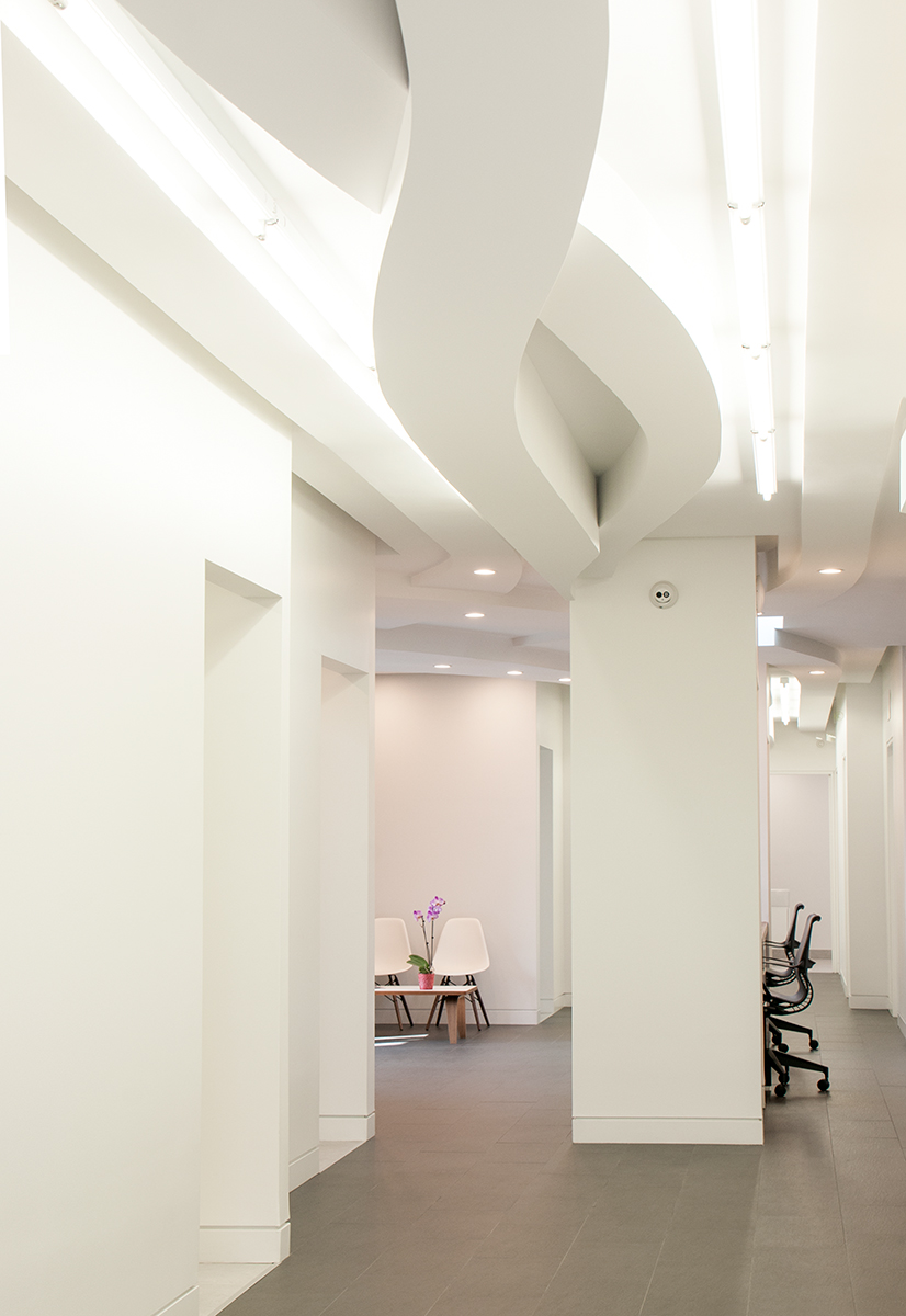 Clean Modern Curved Ceiling Plane Architecture