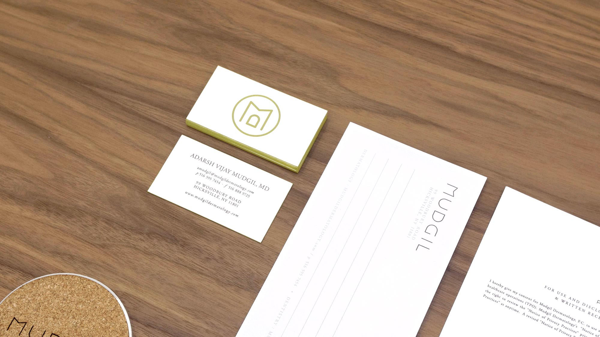 Brand Design for Doctors Office Cards and Forms