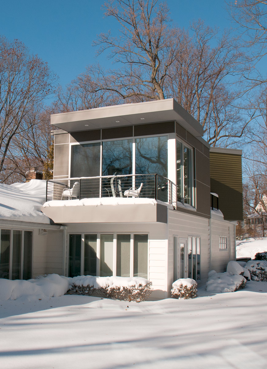 Modern Home Addition in New York Winter