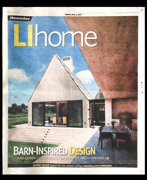 Long Island newspaper article about modern architecture on LI