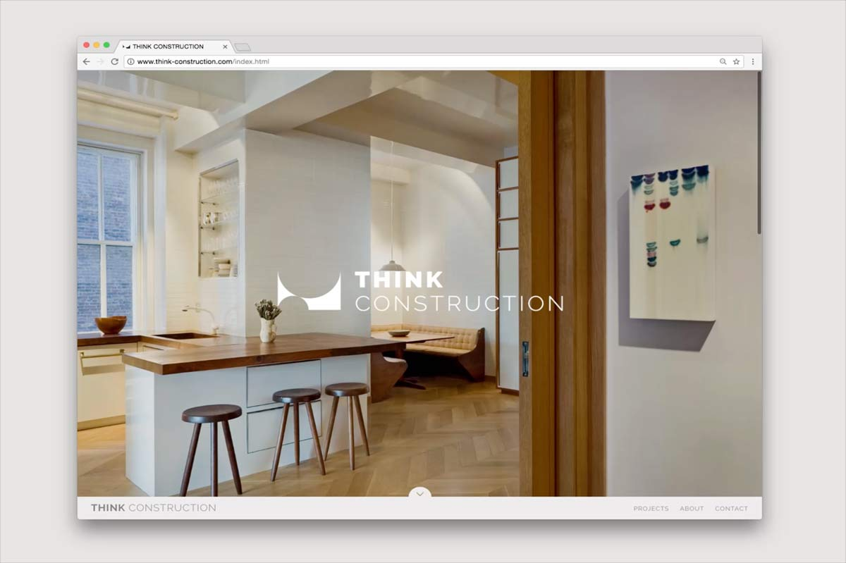 NYC construction firm website design development preview animation