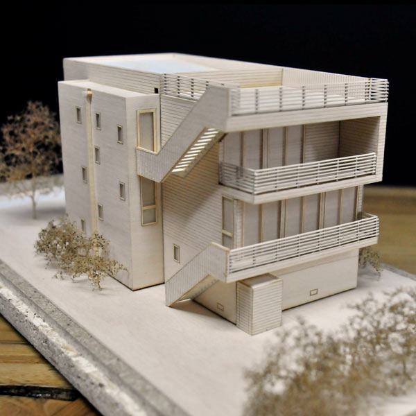 Architectural Model of Long Beach NY Beach House Balconies and Roofdeck